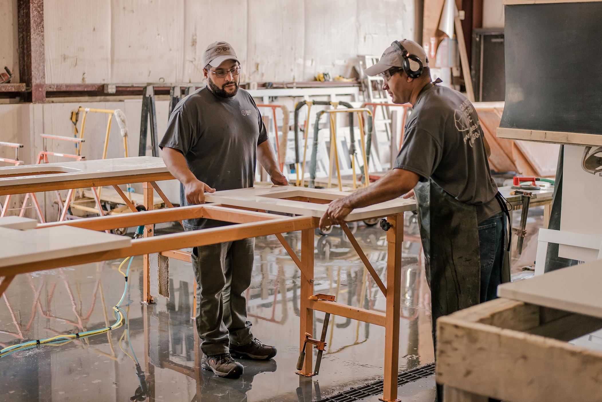 Granite World Employees Working